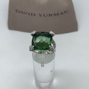 avid Yurman 15mm cushion on point prasiolite ring
